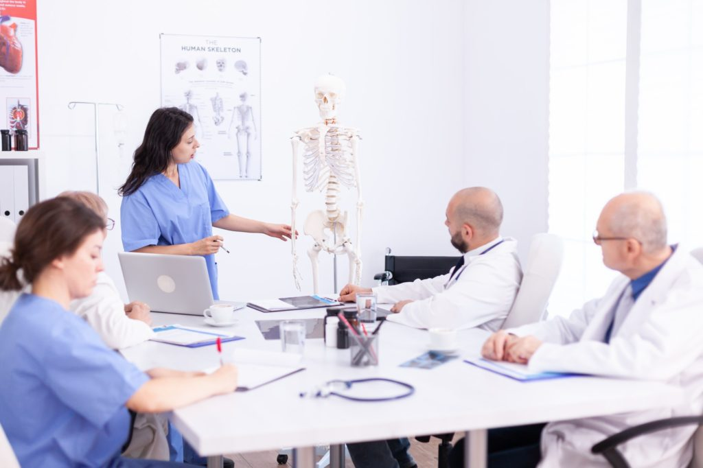 Team of doctors in hospital office